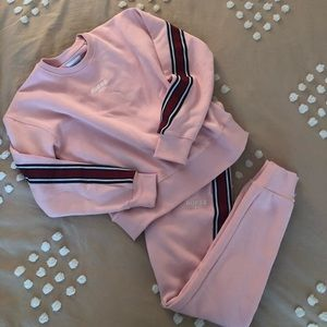 guess pink sweatsuit NWOT